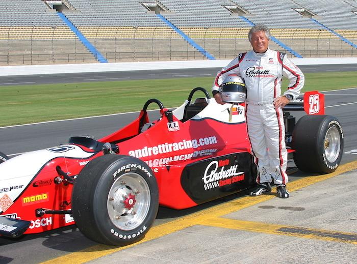 Mario Andretti ride along